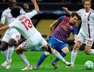 Messi - milan X Barcelona (Foto: Agência EFE)