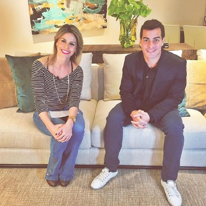 Daiane e Thiago Martins, momentos antes da gravação (Foto: Reprodução/Instagram)