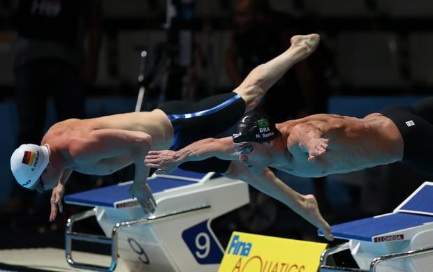 Nicholas Santos, da natação, no Mundial de Barcelona (Foto: Satiro Sodré / SS Press)