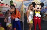 Bailarina Raquel Guarini se diverte na Disney e posa com personagens famosos