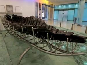 Museu expõe o barco de Jesus (Foto: Reprodução)