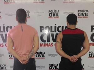 Enfermeiro e instrutor de academia presos em Ituiutaba (Foto: Polícia Civil/Divulgação)