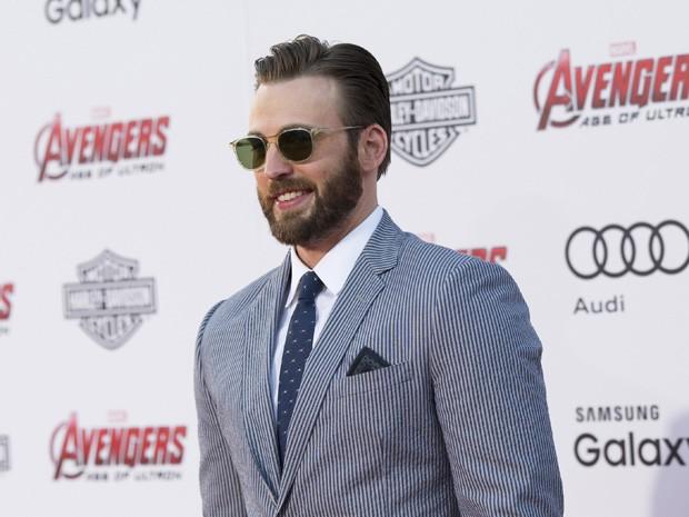 Chris Evans na pré-estreia de 'Vingadores: Era de Ultron' no Teatro Dolby, em Hollywood, nesta segunda (13) (Foto: REUTERS/Mario Anzuoni)