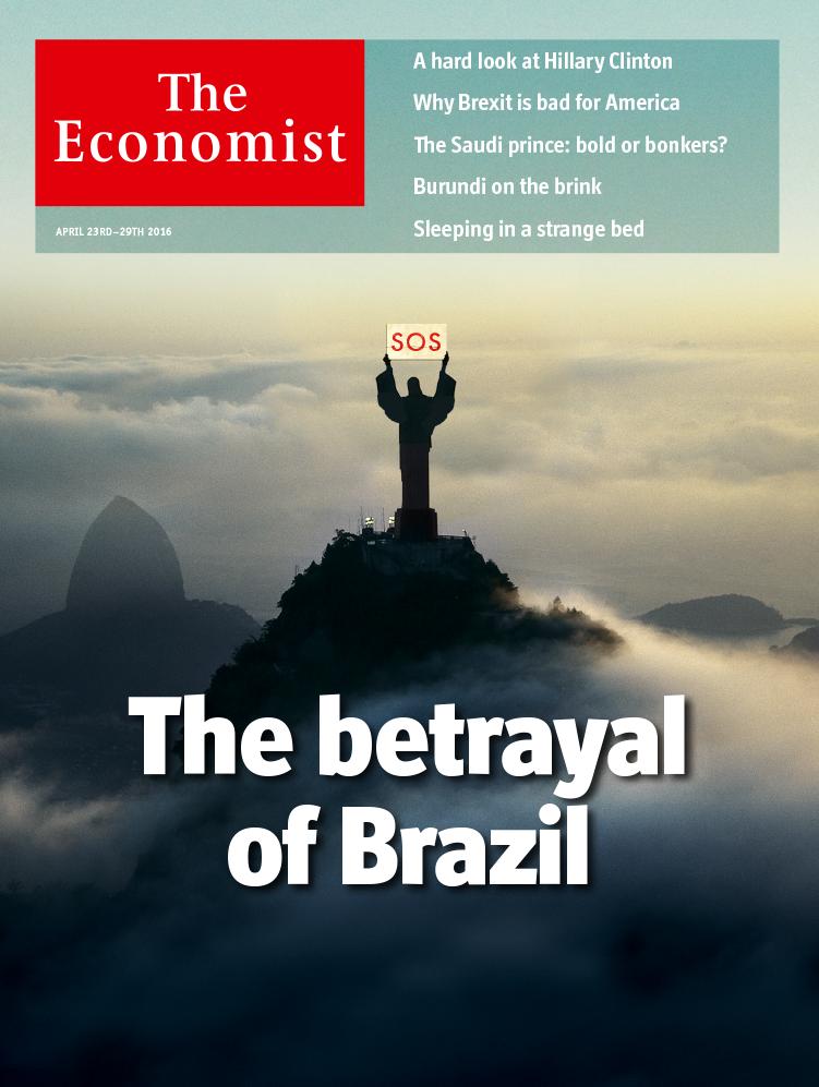 Nova capa da revista The Economist, sobre o Brasil (Foto: Divulgação)