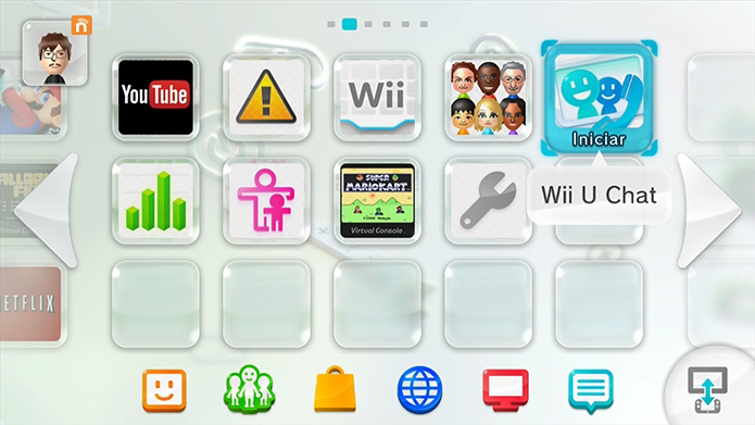 Abra o Wii U Chat (Foto: Reprodução/Murilo Molina)
