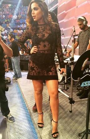 Anitta no Domingão do Faustão (Foto: Reprodução / Globo)