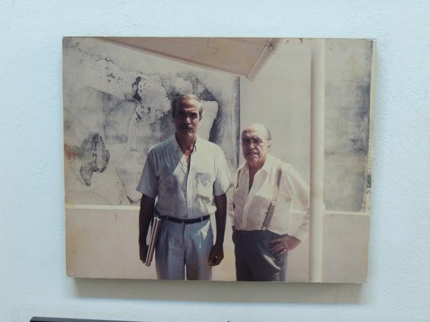 Foto de Niemeyer e Mossri  (Foto: Carolina Paes/g1)