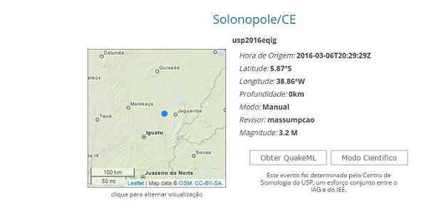 De acordo com o Centro de Sismologia da Universidade de São Paulo, o tremor foi de 3.2 graus na escala Richter. (Foto: Divulgação)