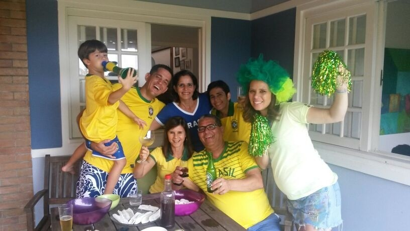 Camila Marinho na vibração verde e amerela (Foto: Arquivo Pessoal)