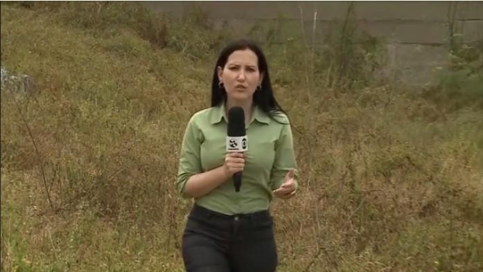Repórter Amanda Dantas em matéria exibida no Globo Rural (Foto: Reprodução / TV Asa Branca)