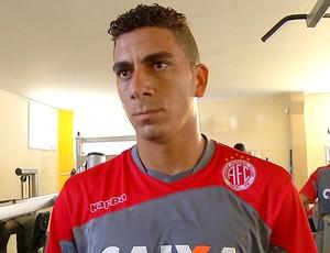 Zé Antônio Potiguar - zagueiro do América-RN (Foto: Reprodução/Inter TV Cabugi)