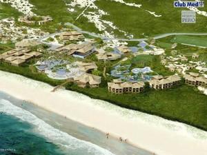 Maquete do Club Med que será construído na Praia do Peró, em Cabo Frio, RJ (Foto: Divulgação)