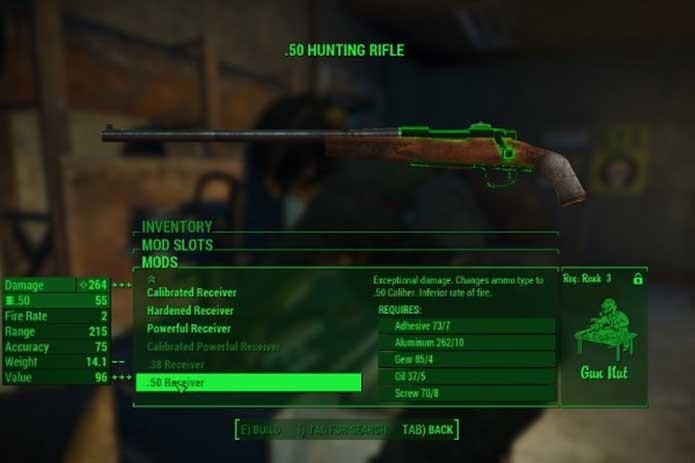 Armas também podem ser alteradas com os mods de Fallout 4 para Xbox One (Foto: Divulgação/Bethesda)