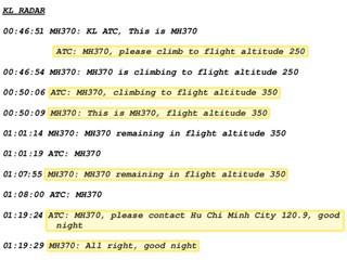 Transcrição suposta íntegra conversa MH370 (Foto: The Telegraph)