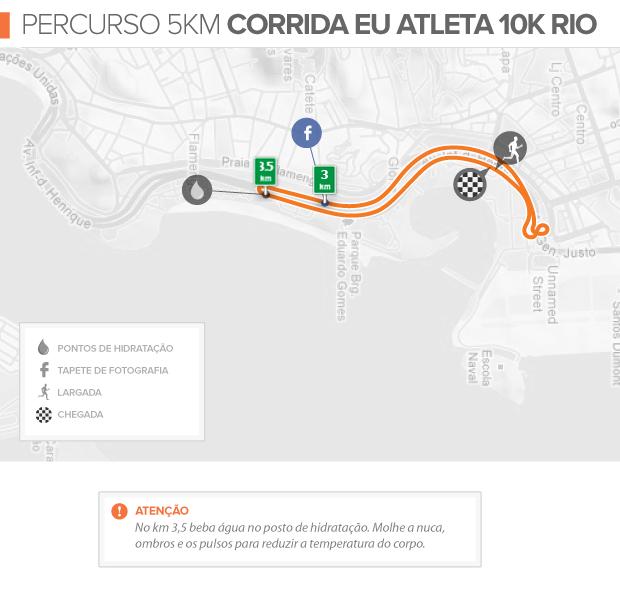 Guia Corrida Eu Atleta Percurso 10k (Foto: Editoria de Arte / GLOBOESPORTE.COM)