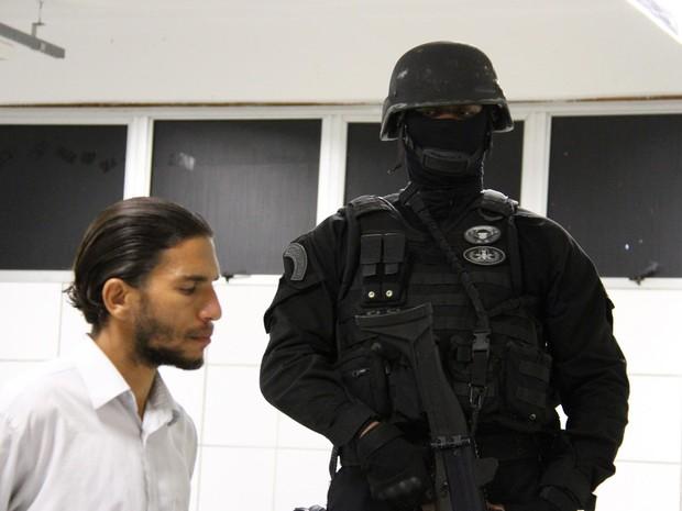 Frank Oliveira da Costa ameaçou explodir suposta bomba em prova da OAB (Foto: Alberto Maraux/Ascom SSP)