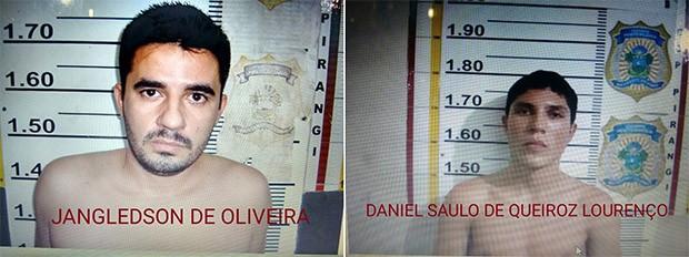 Jangledson de Oliveira (Nem) e Daniel Saulo de Queiroz Lourenço estão sendo procurados pela polícia  (Foto: Divulgação/PM)