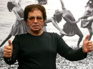 Reginaldo Rossi durante participação na Dança dos Famosos no Domingão do Faustão. (Foto: Divulgação/TV Globo)