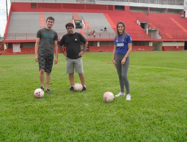 Participantes do Desafio Integração - Camisa Guarani-MG (Foto: Cleber Corrêa)