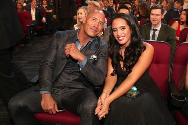 Dwayne Johnson e a filha Sophia (Foto: Getty Images)