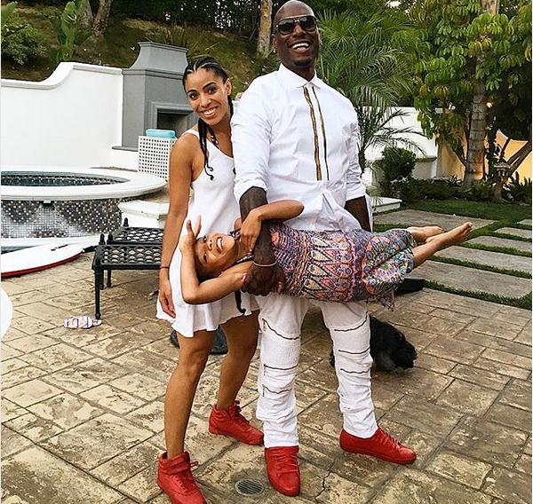 O ator Tyrese Gibson com a filha e a ex (Foto: Instagram)