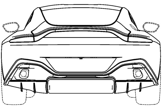 Patentes revelam visual do Aston Martin Vantage (Foto: Divulgação)