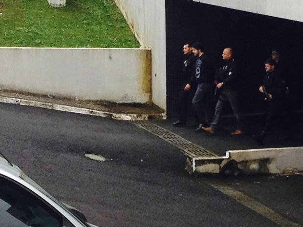 Ex-parlamentar Luiz Argôlo também foi transferido para o Complexo Médico-Legal (Foto: Dulcineia Novaes / RPC)