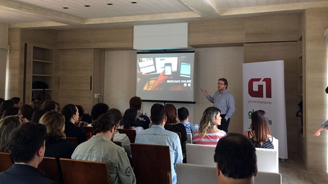 Apresentação de Workshop promovido pela EPTV com agências da região (Foto: Reberson Ricci)