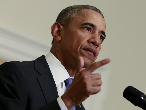 Obama fala sobre acordo com o Irã (Foto: Yuri Gripas/Reuters)