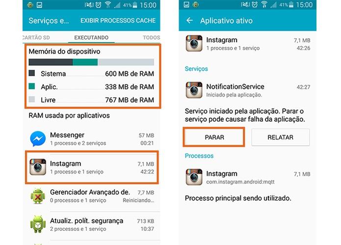 Encerre os aplicativos manualmente no Android (Foto: Reprodução/Barbara Mannara)