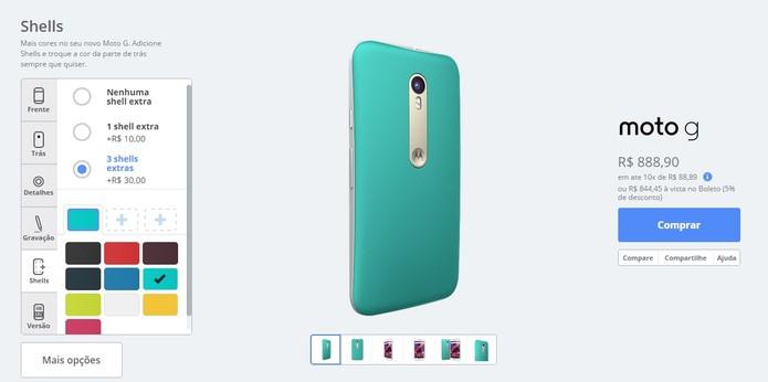 Você pode comprar até três capas extras para seu aparelho (Foto: Reprodução/Motorola)
