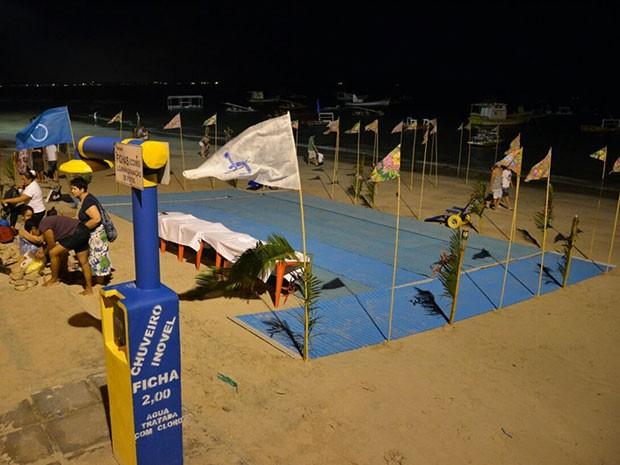 Luau acontece no estande do Praia sem Barreiras, em frente às piscinas naturais (Foto: Divulgação / Prefeitura de Ipojuca)