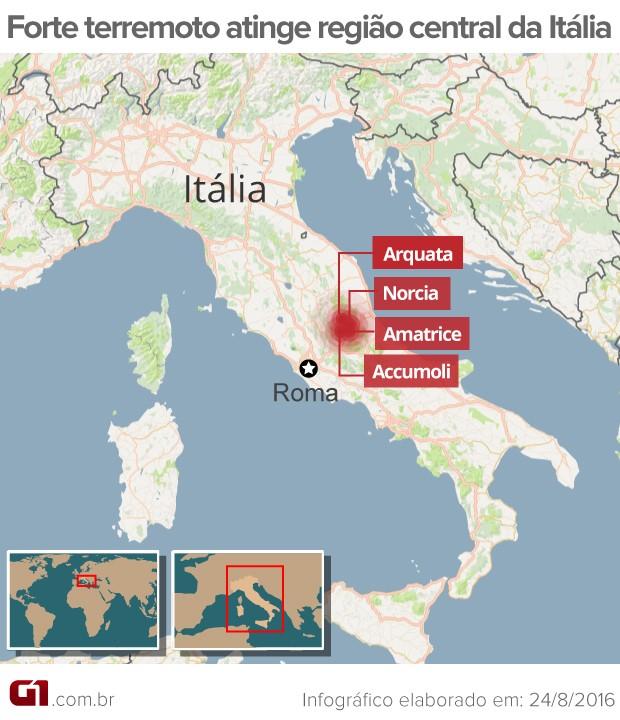 Resultado de imagem para forte terremoto atinge italia em roma
