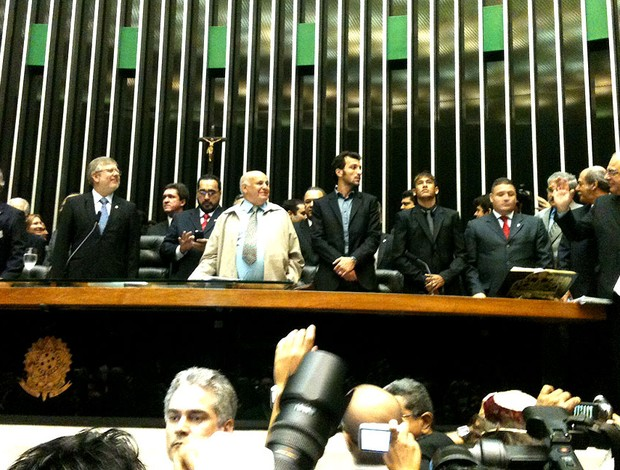 neymar edu dracena santos câmara dos deputados (Foto: Felippe Costa / Globoesporte.com)