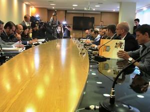 Congresso técnico do Paulistão (Foto: Marcelo Hazan/Globoesporte.com)