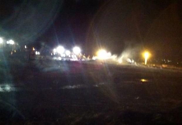 Organização divulgou imagem do local do acidente com Boeing 737, que deixou ao menos 50 mortos (Foto: Divulgação/Comitê de Investigações do Departamento de Transporte de Privolzhskoye, Federação Russa)