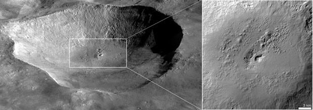 Buraco na superfície de Vesta evidencia evaporação de substância que pode ser água (Foto: NASA/JPL-Caltech/UCLA/MPS/DLR/IDA/JHUAPL)