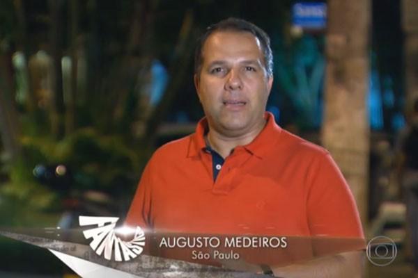 Repórter da TV Integração, Augusto Medeiros, gravou em Juiz de Fora, Campinas e São Paulo (Foto: Divulgação | TV Integração )