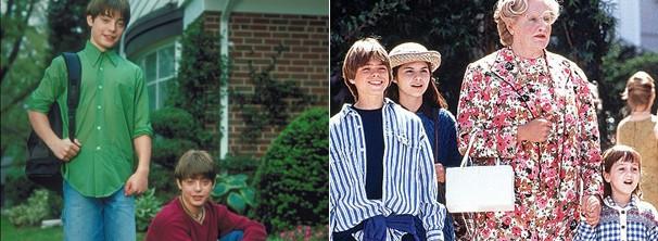 Andrew Lawrence em 'O Outro eu' e Matthew Lawrence em 'Uma Babá Quase Perfeita' (Foto: Divulgação / Reprodução)
