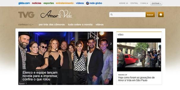 Nova novela das nove, Amor à Vida estreia na segunda, 20 de maio; clique na imagem acima e visite site (Foto: Globo)