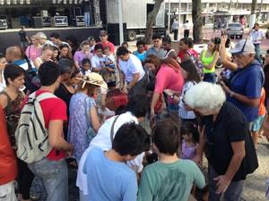 feira de adoção de cães em cabo frio (Foto: Heitor Moreira/G1)