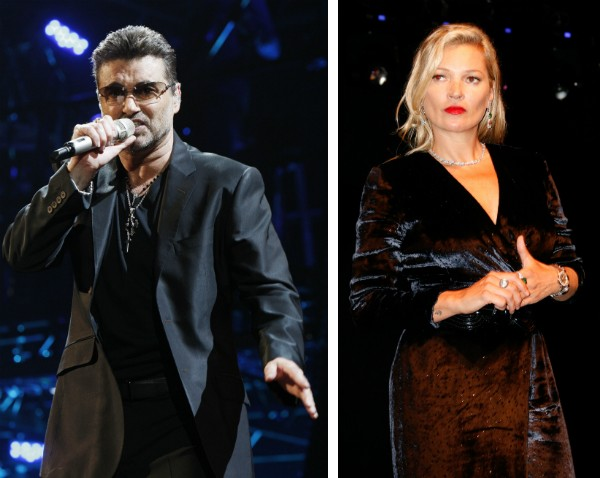 O cantor George Michael e a modelo Kate Moss (Foto: Getty Images)