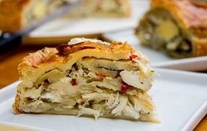 Torta de bacalhau com batata