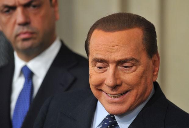Berlusconi em foto desta sexta-feira (29) (Foto: Tiziana Fabi/AFP)