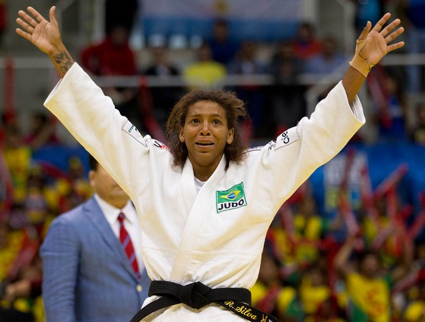 Rafaela Silva Judô mundial (Foto: Marcio Rodrigues / Fotocom)