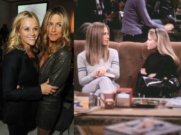 As atrizes Jennifer Aniston e Reese Whiterspoon trabalharam juntas em dois episódios de Friends no ano 2000 (Foto: Getty Images)