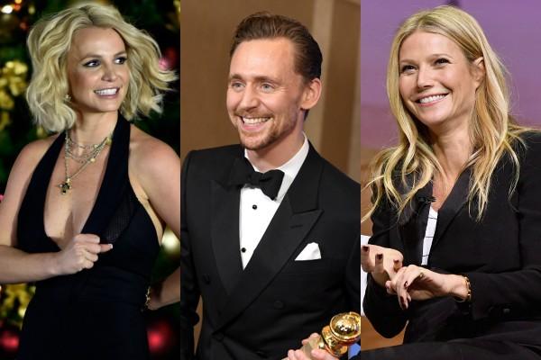 Britney Spears, Tom Hiddleston e Gwyneth Paltrow (Foto: Getty Images)