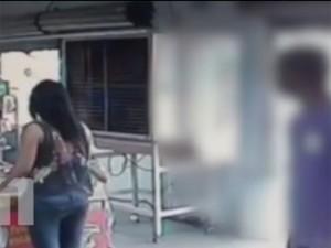 Mulher foi baleada e morta durante assalto a uma farmácia na Zona Norte de Teresina (Foto: Reprodução/TV Clube)