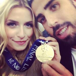 khedira com a namorada Lena (Foto: Instagram)