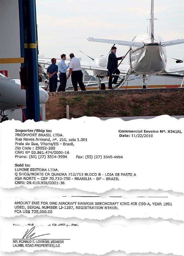 VOO ALTO O empresário Benedito Oliveira sobe em seu avião. Ele o comprou em  2010, segundo o documento acima (Foto:  Folhapress)
